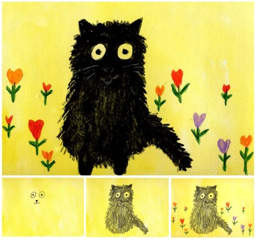 Maud-Lewis-Cat-diagram