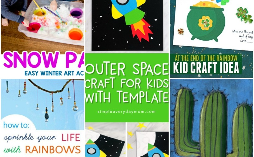 02.22 Crafts: Snow Paint, Fun Rocket, Card with Rainbow, Cactus Drawing