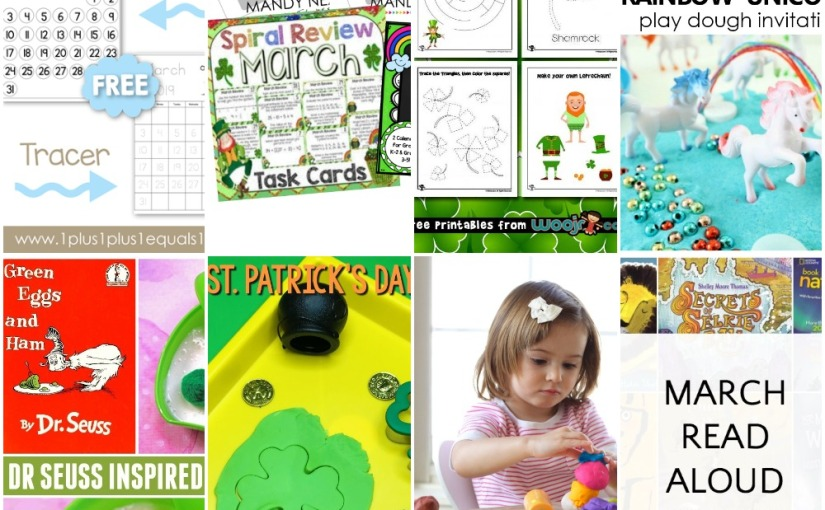 02.25 St.Patrick's Activity Pages, Math Games and Lessons, St.Patrick's Play Dough, Sensory Play
