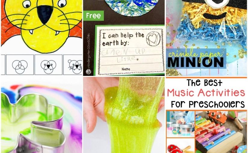 03.02 Circle Lion, Earth Day Fun, Magic Milk Experiment, Slime Recipe, MusicActivities