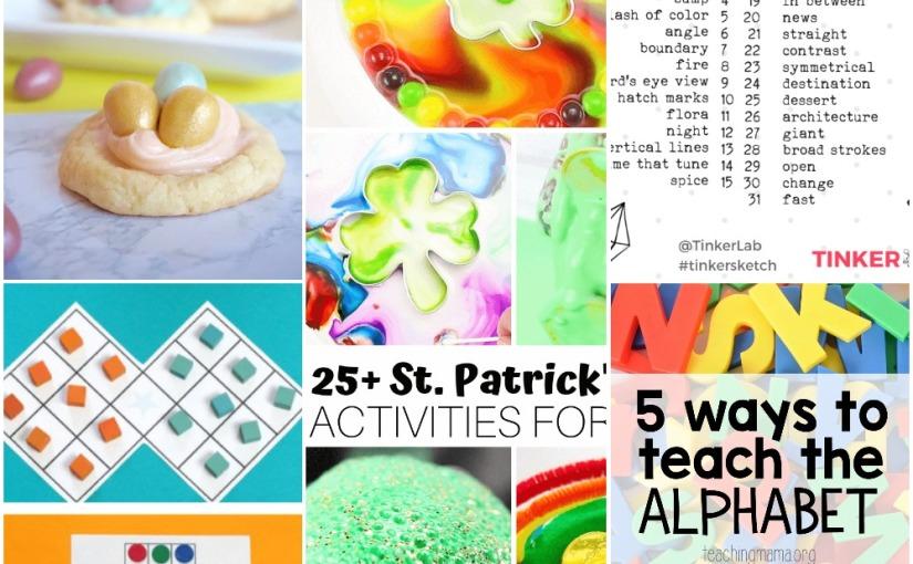 03.05 Solitaire Board Games, St.Patrick's Activities, Art Challenge, Easter Nest Cookies, AlphabetTeaching
