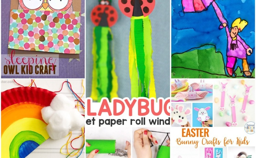 03.06 Crafts: Paper Plate Rainbow, Ladybug Windsock, Sleeping Owl, Easter Bunnys, Drawing for Rainy Weather