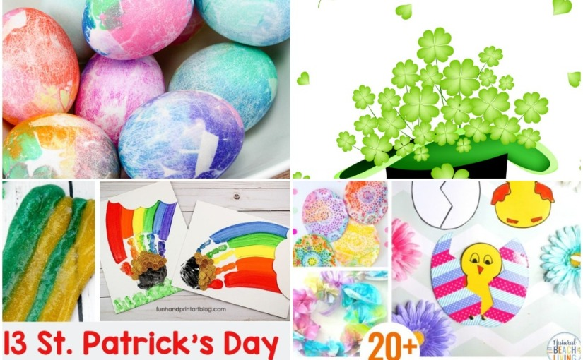 03.07 Crafts: Tissue Paper Dyed Easter Eggs, Shamrock Activities, St.Patrick's and Easter Crafts for Kids