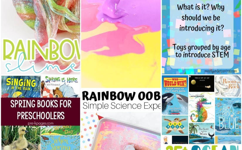 03.13 How to Make Rainbow Oobleck and Slime, STEM Activities, Spring Books,OceanBooks