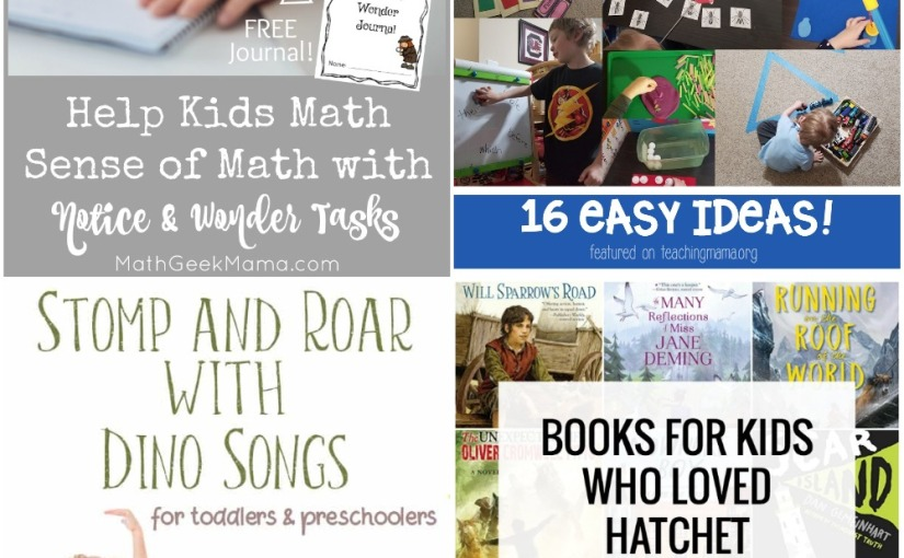 03.14 Help Kids with Math, Preschool Activities Ideas, Dinosour Songs and Rhymes, Books Similar toHatchet