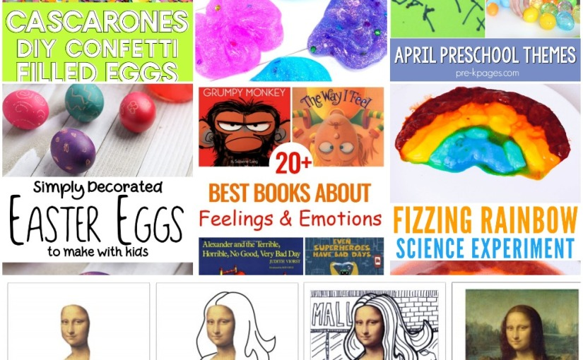 03.15 Mona Lisa, Contact Solution Slime, Rainbow Experiment, Confetti Eggs, Easter Eggs, Books aboutEmotions