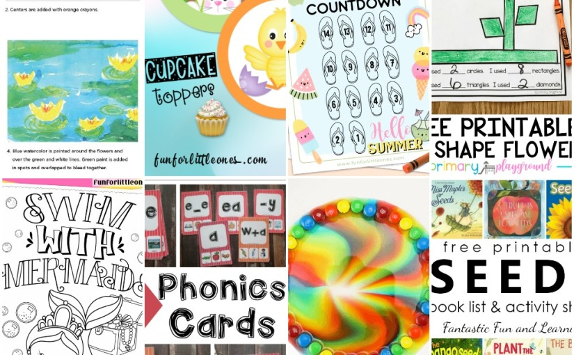 03.17 Water Lily Art, Mermaid Coloring, Summer Countdown, Shape Flower, Phonics Cards, Books about Seeds