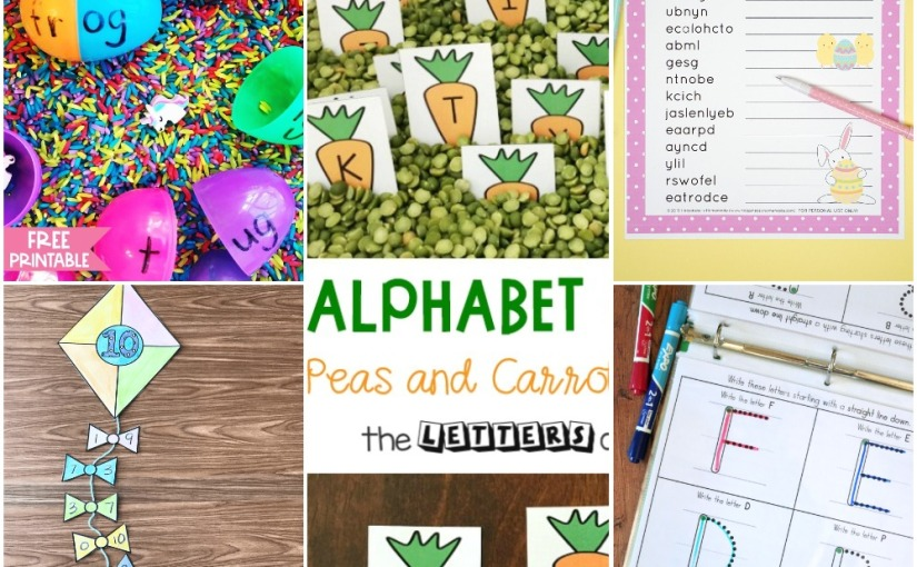 03.24 Printables: Carrots Alphabet, Number Bonds Kite, Real and Nonsense Words, UppercaseHandwriting
