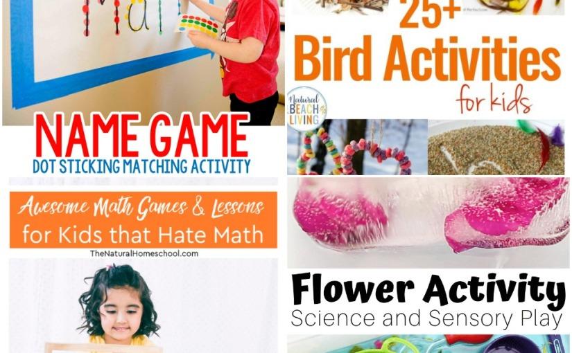 03.24 Name Game Dot Sticker, Flower for Preschooler Science, Bird Activities, Math Games andLessons