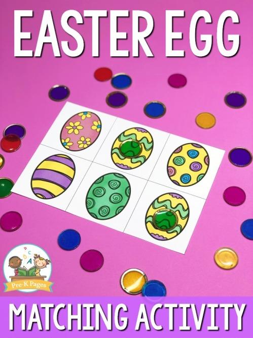 Preschool-Easter-Matching-Activity