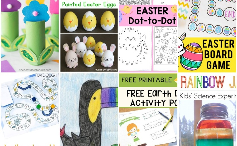 03.31 Flowers, Bunny and Chick Eggs, Toucan Drawing, Easter Dot-to-Dot, Easter and Weather Board Games