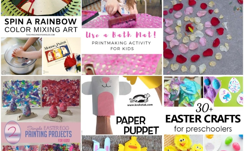 04.01 Crafts: Spin Art, Printmaking, Easter Egg Painting, Paper Puppet, Earth Day Art, EasterCrafts