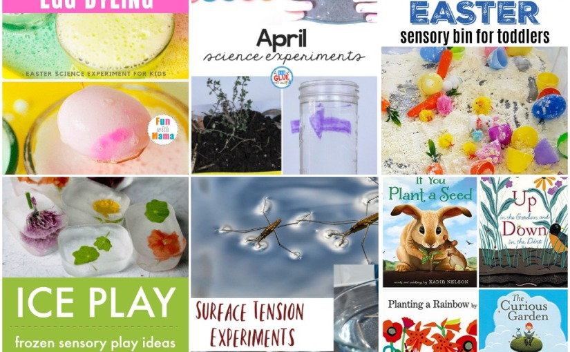 04.17 Frozen Sensory Play, Easter Sensory Bin, Fizzing Egg, Surface Tension of Water, Science Experiments, Bee Books