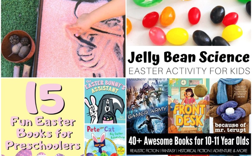 04.18 Sensory Salt Drawing, Jelly Bean's Experiment, Easter Books, 5th Graders GreatBooks