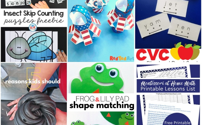 04.30 American Flag Lantern, Insect Counting, CVC Blend and Read Cards, Frog Pond Shapes, Play withSlime