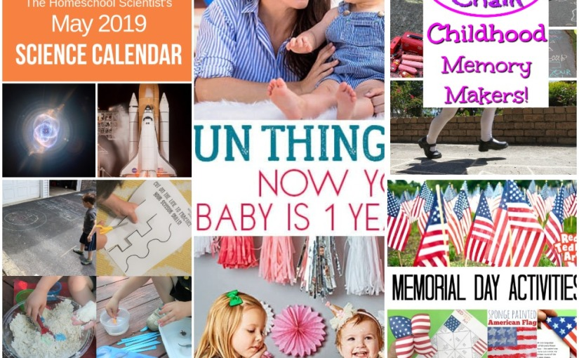 05.01 Activities with 1 Year Old, Chalk Games, Easy Toddlers Activities, Memorial Day Activity, Science Calendar