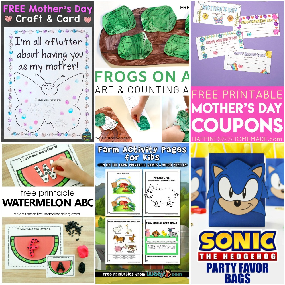 photo regarding Sonic Printable Coupon called 05.06 Printables: Frog Counting, Moms Working day Discount coupons and