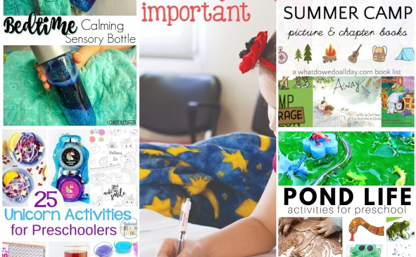 05.06 Bedtime Sensory Bottle, Unicorn Activities, Pond Life, Teach Sight Words, Books about Summer Camp