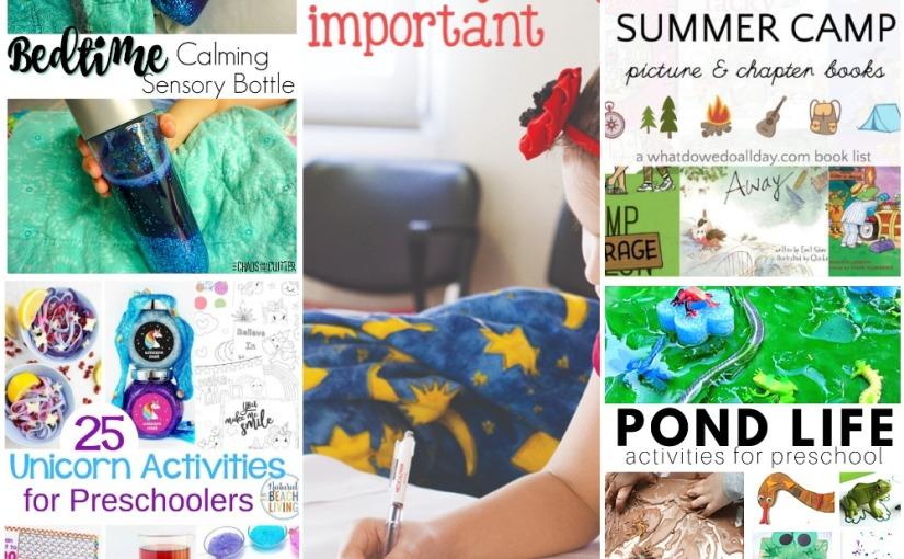 05.06 Bedtime Sensory Bottle, Unicorn Activities, Pond Life, Teach Sight Words, Books about SummerCamp