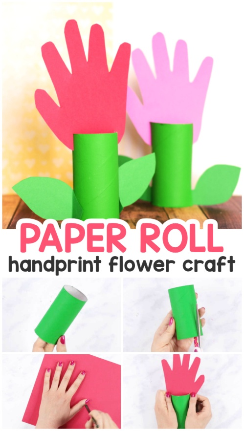 05 01 Crafts Paper Roll Flower Bee Template Father S Day Card
